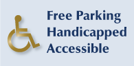 Free parking, handicapped accessible